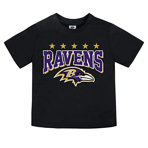- NFL Baltimore Ravens Unisex Short-Sleeve Tee, Black, 2T
