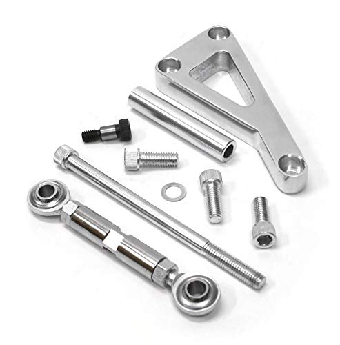 Alternator Bracket Kit, Long Water Pump Lwp Aluminum Alternator Mounting Kit Polished for Chevy SBC 350 ()