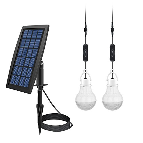 FEIFEIER Solar Power LED Bulb Lamp Solar Shed Light / Solar Barn Light (2 Led (Solar Power Shed)