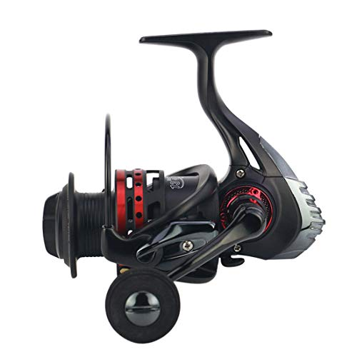 FELICIF Spinning Fishing Reel 13+1 Bearings Left Right Interchangeable Handle for Saltwater Freshwater Fishing with Double Drag Brake System (Size : 4000)