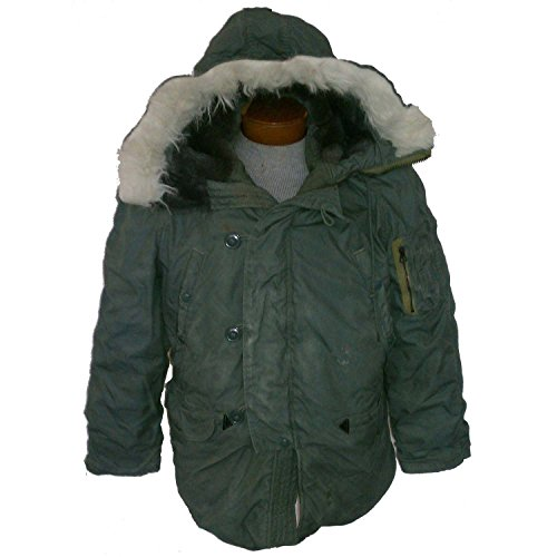 New Made in USA Military ECW Extreme Cold Weather N-3B Snorkel Parka Army Jacket GI (Large) (Cold Parka Extreme)