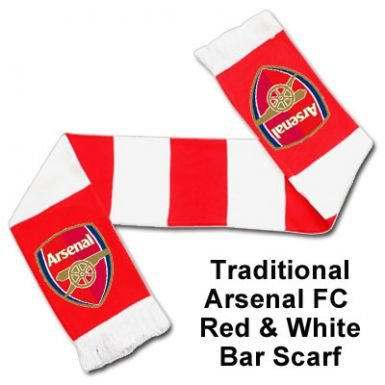 Arsenal FC - Official Crest Bar Scarf (Arsenal Flag)