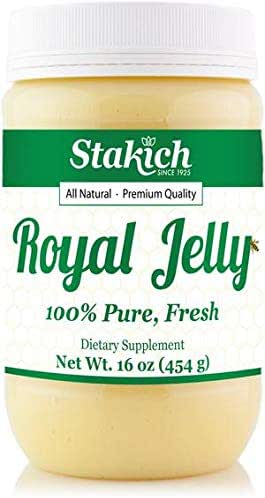 Stakich Fresh Royal Jelly - Pure, All Natural - No Additives or Preservatives Added - 16 Ounce