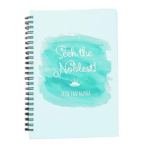 Zeta Tau Alpha ZTA Custom Watercolor Notebooks