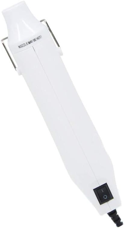 Pistola de aire caliente portátil eléctrica de mano de 300 W, minipistola de aire caliente para estampar, secado de color, DIY, forma fija, tono, contracción de color decapante de regalo, Blanco