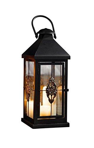 Medium 19 in. Metal European-style Hanging Candle Lantern -