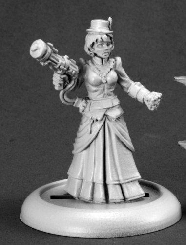 Reaper Miniatures 59009 Savage Worlds Series Mini Mad Scientist, Female Miniature