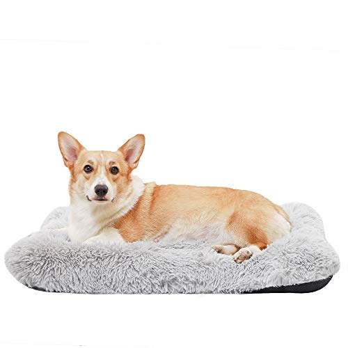 """HACHIKITTY Calming Dog Bed Crate Pads, Dog Crate Bed Medium Dogs, Dog Crate Mats Machine Washable, 30"""""""