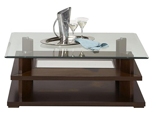 Progressive Furniture Delfino Castered Cocktail Table, Burnished Cherry Review