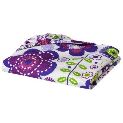 (Bacati - Botanical Sanctuary Floral Multicolor Purple Printed Sheet)