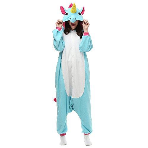 Blue Unicorn Onesie (Adult Small) (50 Costume Ideas)