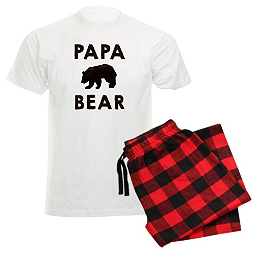 Papa Bear Flannel - CafePress - Papa Bear Pajamas - Unisex Novelty Cotton Pajama Set, Comfortable PJ Sleepwear