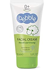 Bebble Facial Cream 50ml. Facial Moisturiser and Facial Barrier Cream Suitable for Newborn, Baby and Toddlers including those with drool rash, milk rash. Made with Natural Ingredients.
