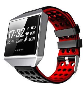 rouge  WWDZNSH Bracelet Intelligent Tension Artérielle De Fréquence voiturediaque De Bracelet Intelligent étanche à l'eau Montre De Sport Podomètre Fitness Tracker