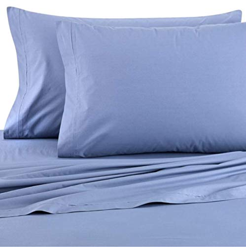 ED Ellen DeGeneres Garment Washed Super Soft & Cozy Full Sheet Set in Indigo ()
