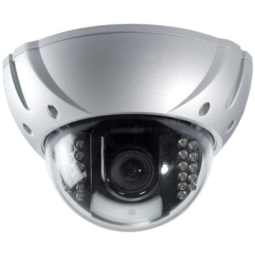 Speco VL-650IR/S Vandal proof Weatherproof Dome Camera - Silver - Color - CCD - Cable by Speco