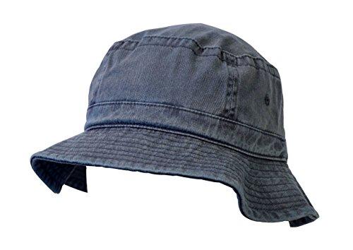 KC Caps Denim Summer Bucket Hat, Unisex Pigment Dyed Washed Garment Outdoor Hat by KC Caps (Image #1)