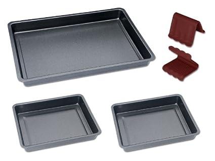 Chg Set 225-10 - Juego de bandejas de horno con agarrador (5 piezas