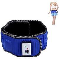 Sonew Cinturón de masaje eléctrico para abdominales, 5 motores de vibración,…