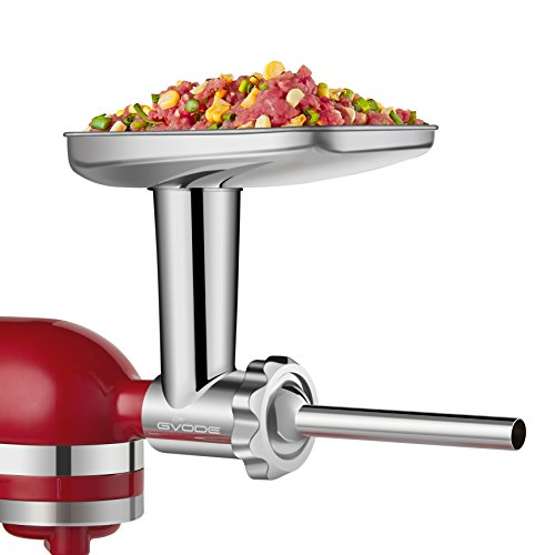 Food Grinder Attachment work with KitchenAid Stand Mixers Including Sausage Stuffer, All Stainless Steel,Dishwasher Safe, Durable Mixer Accessories as Meat Processor by GVODE (Image #2)