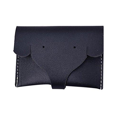 - Womail Women Hasp Elephant Wallet Card Coin Holder Clutch Handbags (Black)