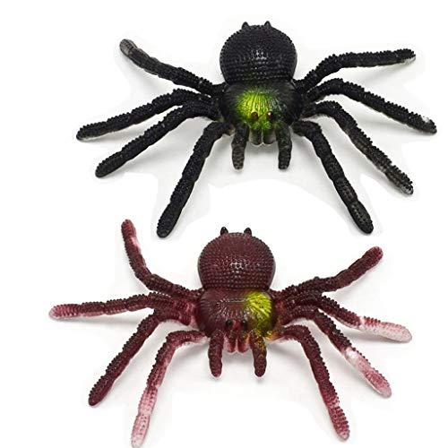 LIGONG 2 Pcs Plastic Simulation Spiders Joke Prank Toy]()