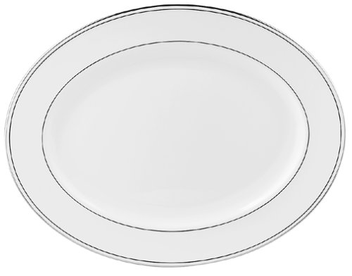 Lenox Federal Platinum 16-Inch Bone China Platter Dishwasher Safe Platinum Platter