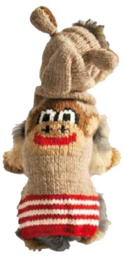 - Chilly Dog Monkey Hoodie Dog Sweater, Medium by Chilly Dog