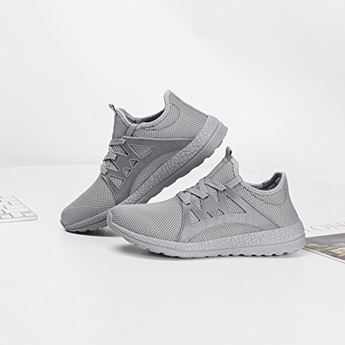 Men Shoes Gym Ceyue Grey Mesh Breathable Shoe Lightweight Leisure Sneakers Running Casual Sport dRTRq0