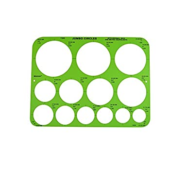 Image of Drawing & Lettering Aids Westcott Jumbo Circles Template, Case of 144 (500-T826)