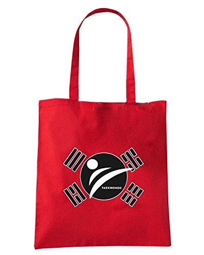 T-Shirtshock - Bolsa para la compra TAM0176 taekwondo tshirt Rojo