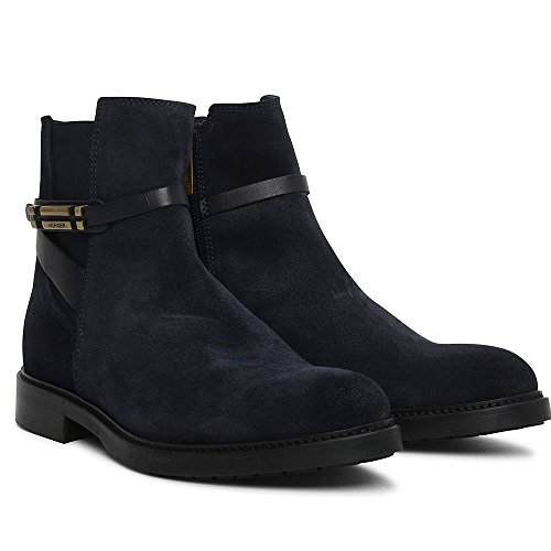 Classic Boot Suede Hilfiger In Ankle Navy Tommy z85xf