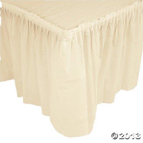 Ivory Plastic Table Skirt 29