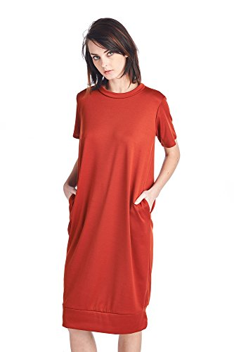 82 Various Days 1 Dresses Mid Long Comfortable Jersey Styles Women's Rust fpfx4qwr