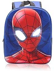 Marvel Spider-Man Rugzak voor kinderen, schooltas kleuterschool met 3D reflecterende ogen, kinderrugzak voor jongens en kinderen