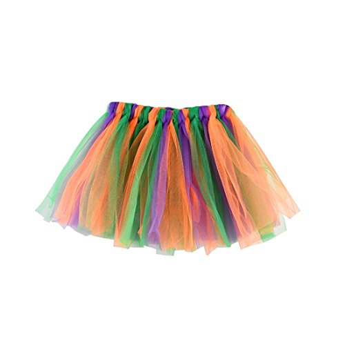 2018 Baby Kids Girls Summer Princess Colorful Pettiskirt Party Ballet Tutu Skirt Mini Dress Dancewear 3-8 Years (E, 3-8T)