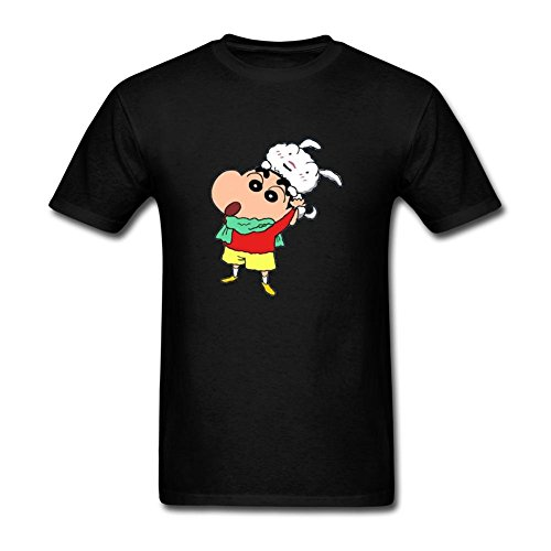 DanielRauda Men's Crayon Shin Chan Funny Short Sleeve T Shirt Black