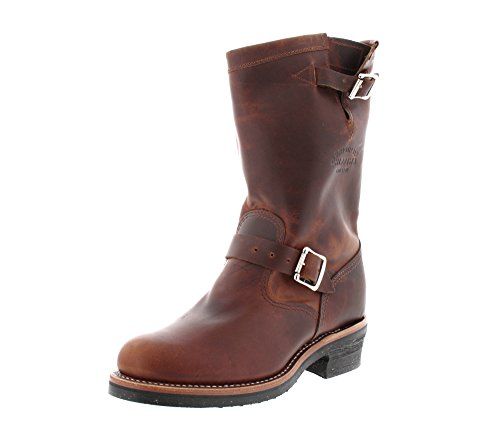 (Original Chippewa Collection Men's 1901M50 11 Inch Engineer Boot, Tan Rengade, 12 E)