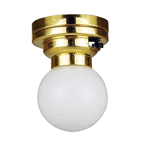 En Miniature Plafonnier Maison Led Lampe Base 112 Pour De Poupée WCBxQdoer