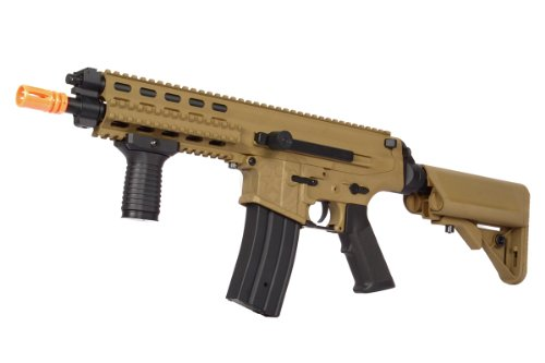 echo1 licensed robinson armament xcr-c airsoft aeg rifle – desert tan(Airsoft Gun) For Sale