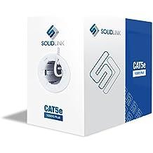SolidLink CAT5e 1000ft Premium UTP Ethernet Cable 24AWG 1000 Feet Bulk LAN Network Wire, White