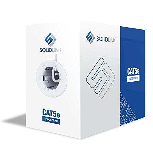 SolidLink CAT5e 1000ft Premium UTP Ethernet Cable 24AWG 1000 Feet LAN Network - 5e Wire Category