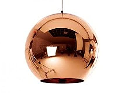 Buy The Brighter Side Auriga copper ball pendant light for home