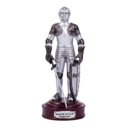 Full Armor of God Ephesians 6 Resin Stone 5 inch Knight Figurine
