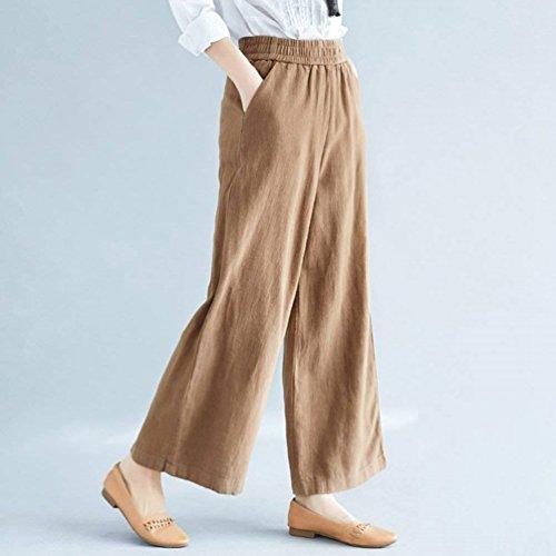 Libero Monocromo Larghi Pantalone Baggy Tempo Fashion Cintura Grazioso Lunga Donna Moda Kamel Primaverile Pantaloni Eleganti Elastica Palazzo Pantalone Autunno xPRf8wqY