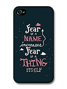 AMAF ? Accessories Harry Potter Fear Of A Name Dumbledore Hermione Quote case for iPhone 4 4S