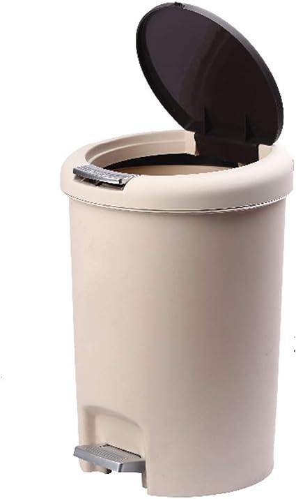 T5s6 Prullenbak Plastic Prullenbak Draagbaar En Pedaal Gemonteerd Deksel Keuken Woonkamer Badkamer Amazon Nl