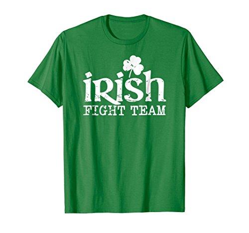 Irish Fight Team shamrock mma green distressed t-shirt - Mma Fight Team