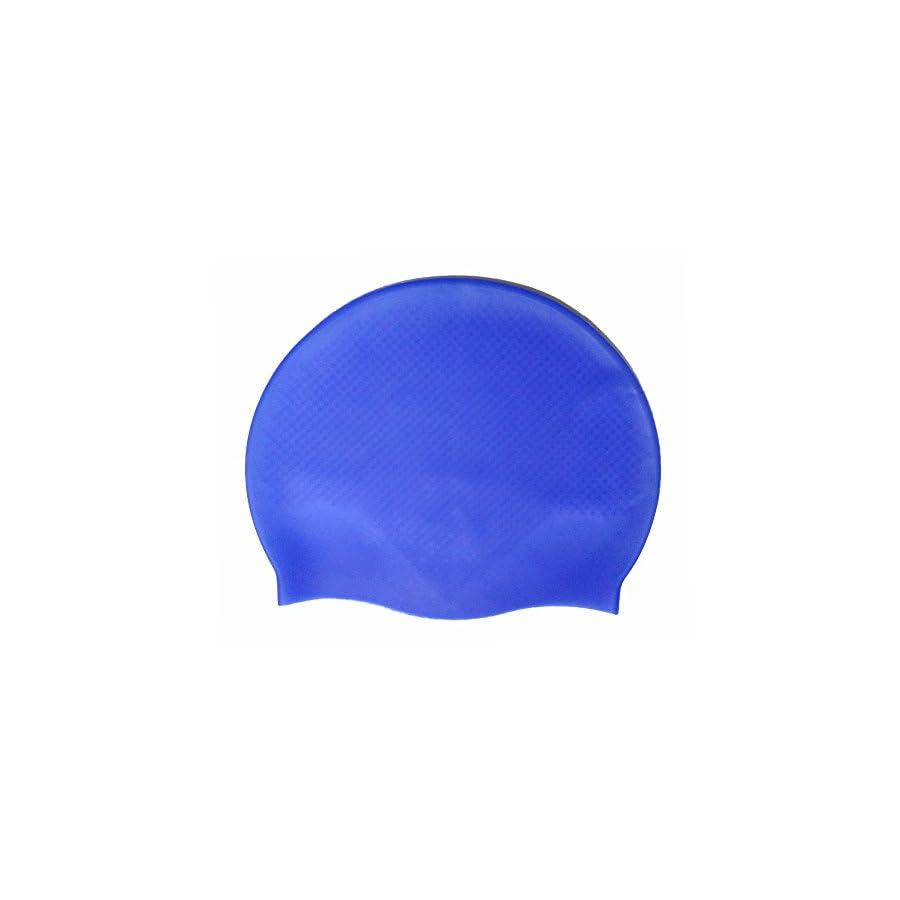 Swim Cap Silicone 2 Pack for Men Women Youth Teenager Waterproof Grainy Anti Slip High Elasticity