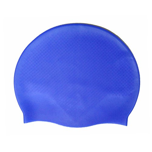 Swim Cap Silicone 2 Pack for Men Women Youth Teenager Waterproof Grainy Anti Slip High Elasticity